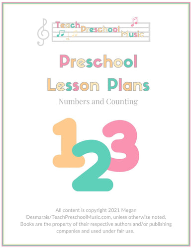 Numbers and Counting Music Lesson Plan (PreK - 2)