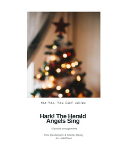 Hark! The Herald Angels Sing (3 Leveled Arrangements)
