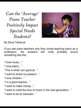 The Piano Bench Mag - August, 2018