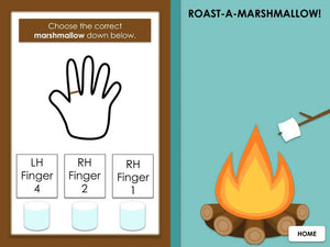 Roasting Marshmallows Hands and Finger Numbers | Interactive Digital Music Game