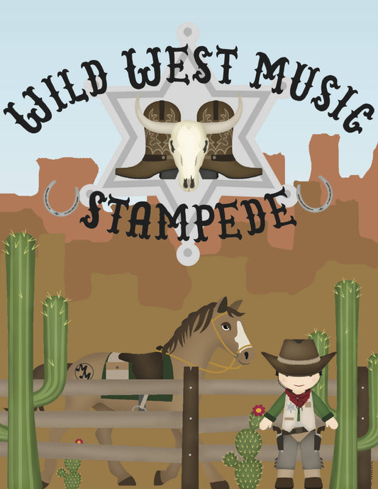 Wild West Music Stampede Sample Pages