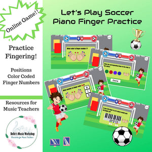 Let's Play Soccer - Piano Finger Practice Game
