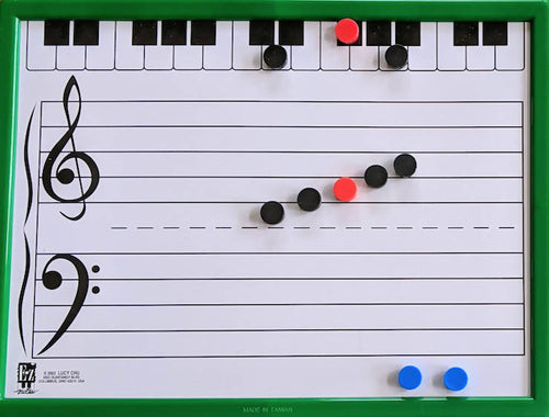 E-Z Notes Piano/String Instrument Magnetic Board Kit (green) - 9 x 12