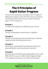 Beginner Guitar Practice Secrets