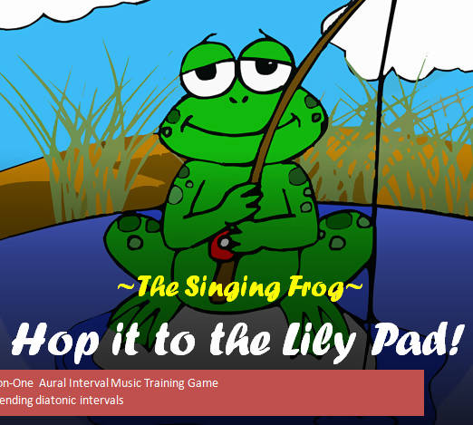 Hop It to the Lily Pad! Aural Interval Game