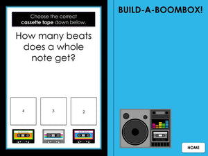 Build a Boombox Rhythm | BUNDLE | Interactive Digital Music Game