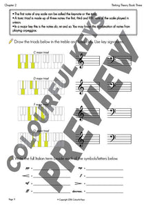 US Version: Thinking Theory Book Three – Reproducible Music Theory Workbook