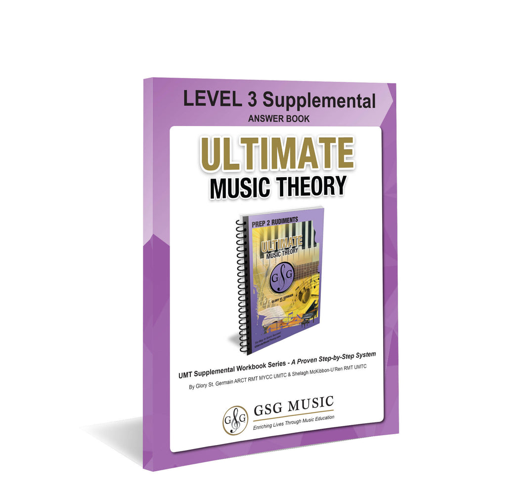 UMT LEVEL 3 Supplemental Answer Book
