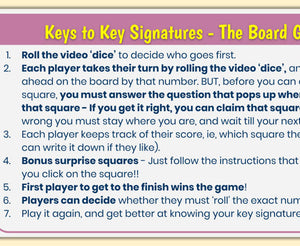 Key Signatures - Digital Board Game!