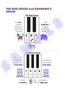 Intro to Piano Level 1 - Single Use. US Letter paper size Digital Download