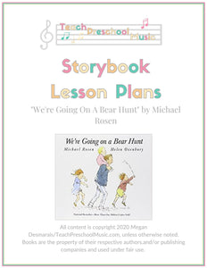 We're Going On A Bear Hunt Storybook Music Lesson Plan (PreK - 2)