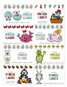 April Practice Punch Cards