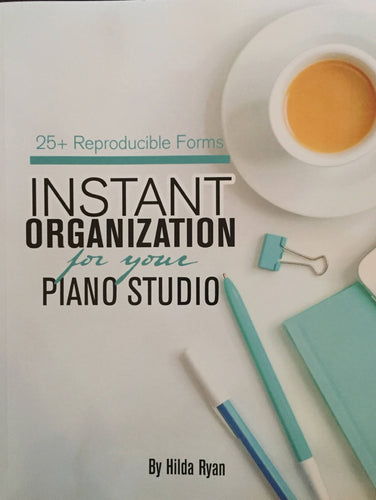 Instant Organization for your Piano Studio - DIGITAL DOWNLOAD