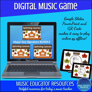 Spinning Leaves | Major Key Signatures BUNDLE | Digital Music Game