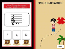 Find the Treasure Notes | BUNDLE | Interactive Digital Music Game