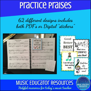 Practice Praises | Reproducible | Printable and Digital Options