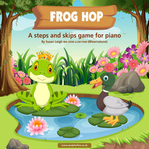 Frog Hop: a steps and skips piano game