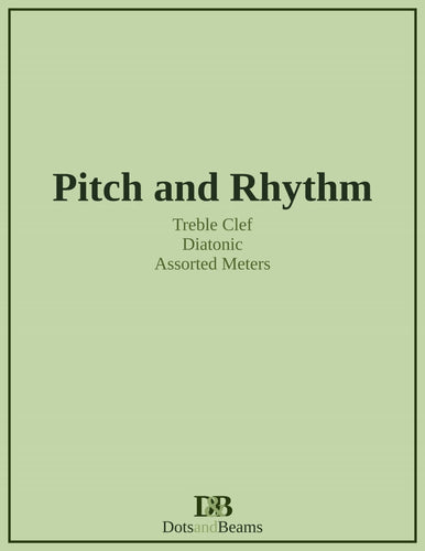 Pitch and Rhythm - Treble Clef (Print Copy)