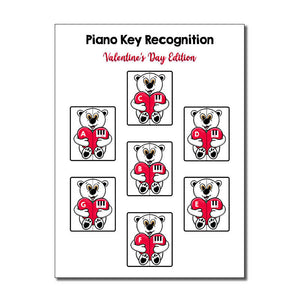 Piano Key Recognition ~ Valentine's Day Edition (Pink Keys)