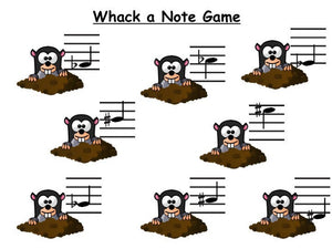 Whack A Mole Note Recognition Game