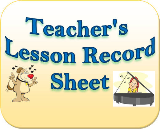 Lesson Record Sheet