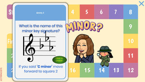 15 Key Signatures - Interactive Digital Board Game!