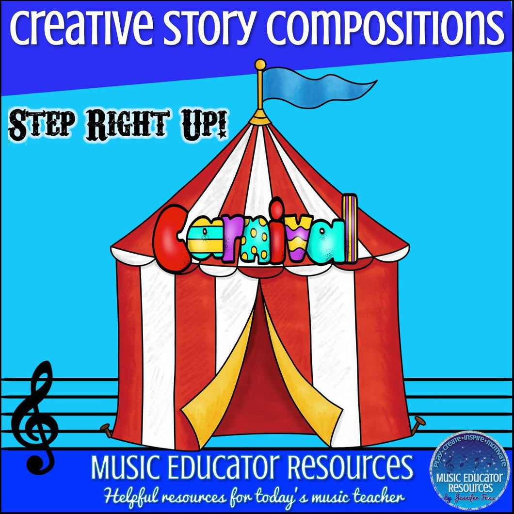 Creative Story Compositions: Carnival Circus (Reproducible)