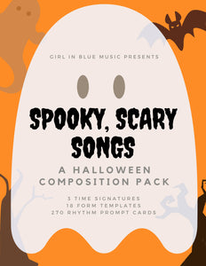 Spooky, Scary Songs: A Halloween Composition Pack