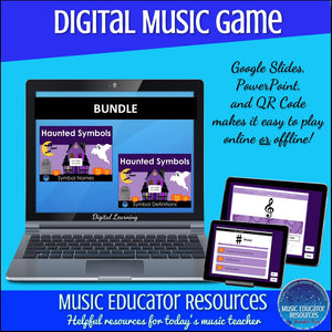 Haunted Symbols | Names and Definitions BUNDLE | Interactive Digital Music Game