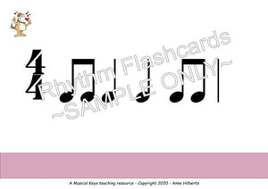 Rhythm Flashcards - Digital & Printable – Level 1A – Distance Learning Friendly
