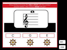 Ships Ahoy | Treble and Bass Clef Guide Notes | Interactive Digital Music Game