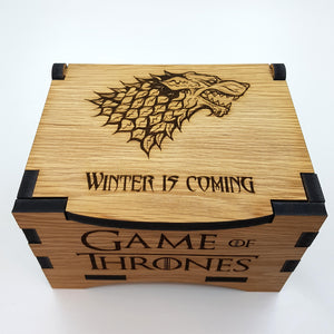 Game Of Thrones House Stark Oak Box