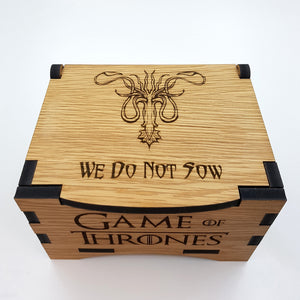 Game Of Thrones House Greyjoy Oak Box