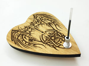 Automatic Writing Planchette with Tribal design
