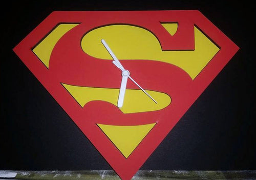 "Superman ""the man of steel"" Clock"
