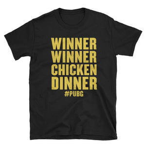 Winner Winner Chicken Dinner Shirt PlayerUnknown's Battlegrounds PUBG Short-Sleeve Unisex T-Shirt