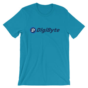 Digibyte DGB Logo Symbol Cryptocurrency Shirt Short-Sleeve Unisex T-Shirt