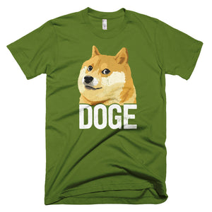 Dogecoin DOGE Distressed Crypto Shirt American Apparel Short-Sleeve T-Shirt