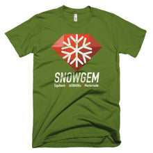 Snowgem XSG Logo Symbol (Vintage Texture) Cryptocurrency Shirt Short-Sleeve T-Shirt