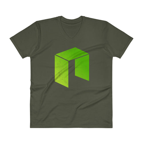 Neo Logo (Distressed) V-Neck T-Shirt