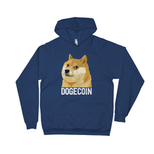 Dogecoin DOGE Distressed Crypto Shirt American Apparel Unisex Fleece Hoodie