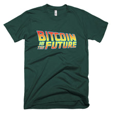 Bitcoin Is The Future Back To The Future Inspired BTC T Shirt Short-Sleeve T-Shirt