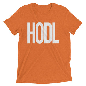 HODL Large Tall Print Bitcoin Cryptocurrency Shirt Short sleeve t-shirt
