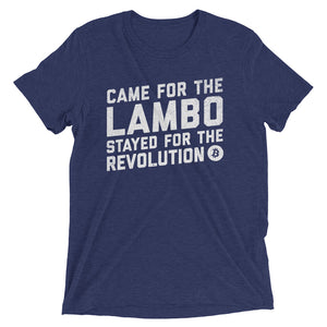 Bitcoin Came For The Lambo Stayed For The Revolution BTC Shirt Short sleeve t-shirt