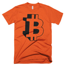 Bitcoin 3D Logo Tshirt - BTC symbol t shirt - Orange