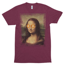 Mona Lisa Bitcoin BTC Funny Shirt Short sleeve soft t-shirt