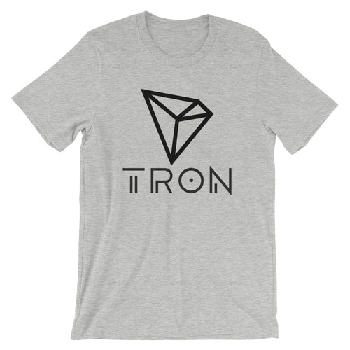 TRON (TRX) New Logo Tshirt | Cryptocurrency Symbol Shirt | Short-Sleeve Unisex T-Shirt