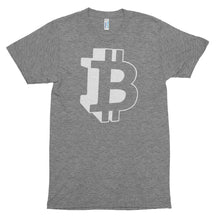 Bitcoin Logo / Symbol 3D Graphic Tshirt - Grey t shirt