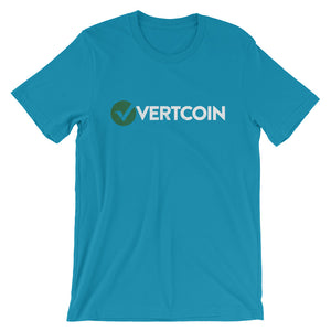 Vertcoin VTC Logo Symbol (Distressed) Short-Sleeve Unisex T-Shirt