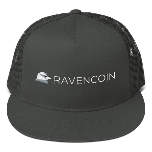 Ravencoin Raven Coin RVN Embroidered Mesh Back Snapback